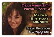 December 2014 News Part 2: EXCLUSIVE: MACKENZIE ROSMAN'S BIRTHDAY DINNER, NEW PHOTOS & LOTS MORE NEWS!