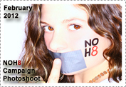 February 2012 News: Mack & fellow 7th Heaven Cast Member Beverley Mitchell did a NOH8 Campaign Photo Shoot in February 2012