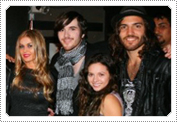 Exclusive On-Set Candid Photo; Mack with Carmen Electra & the band members of Heartstop from October 2010.