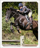 Mackenzie Rosman riding horse 'Sumo Power' in the Piedmont Point to Point Hunt Race on 26th March 2018