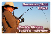 Mack on a tingy boat fishing in Africa.