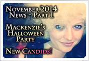 November 2014 News Part 1: EXCLUSIVE: MACKENZIE ROSMAN'S HALLOWEEN PARTY & NEW CANDID PHOTOS!