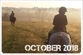 October 2018 News: OCTOBER 2018: MACKENZIE TAKES A SUNDAY MORNING HORSE RIDE WATCHING THE SUNRISE in September 2018!