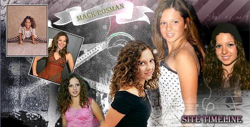 Mackenzie Rosman: Site Timeline